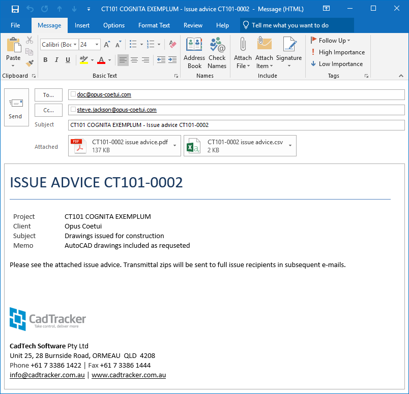 Send e-mails with Outlook